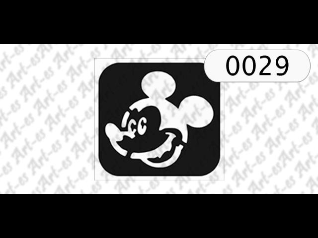 szablon do tatuażu Myszka Miki