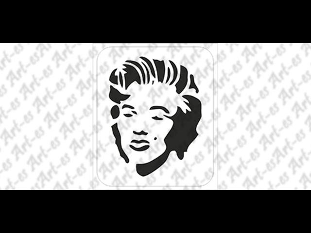 szablon do tatuażu Marilyn Monroe