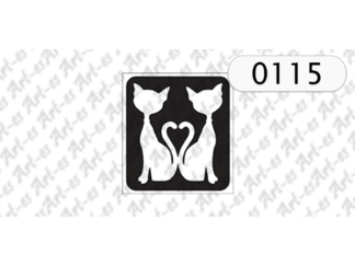 szablon do tatuażu koty