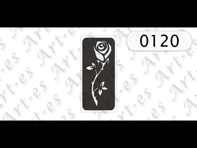 Szablon Nr 0120 Róża