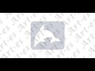 szablon wielokrotny do tatuażu - wzór Delfin
