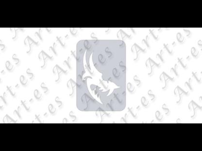 szablon wielokrotny do tatuażu - wzór Wilk