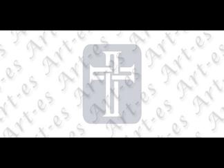 szablon wielokrotny do tatuażu - wzór Krzyż