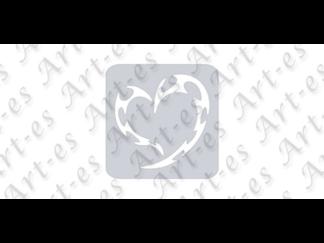 szablon wielokrotny do tatuażu - wzór Czaszka Serce