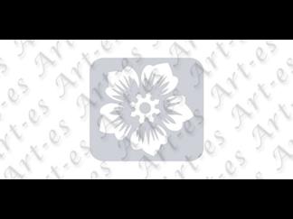 szablon wielokrotny do tatuażu - wzór Kwiat