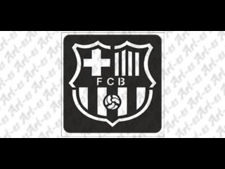 wzór szablon do tatuażu - FC Barcelona