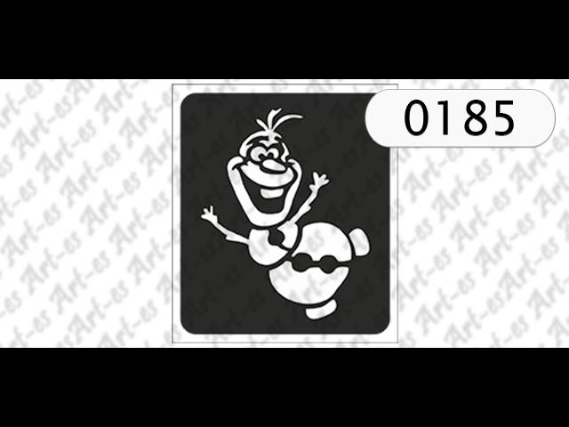 Szablon Nr 0185 Kraina Lodu Olaf