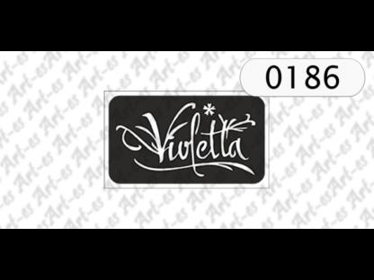 szablon do tatuażu - Violetta