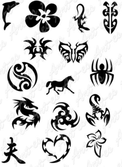 tatuaż brokatowy szablony