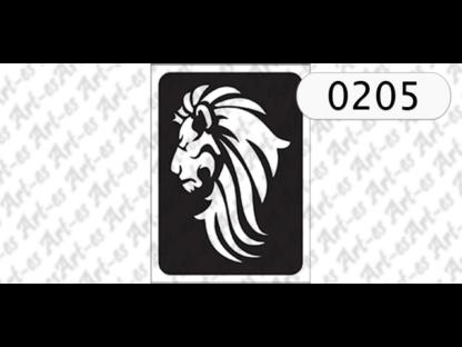 szablon do tatuażu lew 205