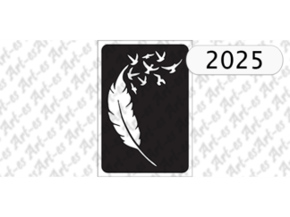 szablon do tatuażu pioro - ptaki 2025