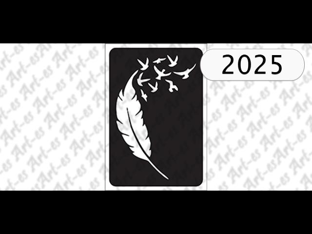 Szablon Nr 2025 Pióro I Ptaki