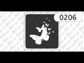 szablon do tatuażu motylki nr 206