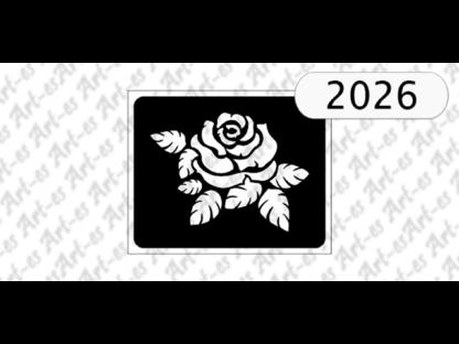 szablon do tatuażu wzór Róża nr 2026