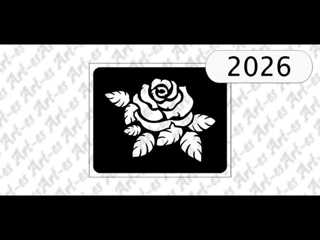 Szablon Nr 2026 Róża