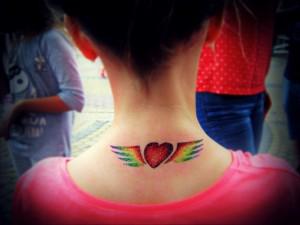 serce ze skrzydłami